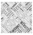 Staying Safe with Social Networking Websites Word vector image vector image
