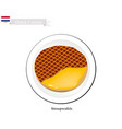 stroopwafels or caramel waffle a famous dish of n vector image vector image