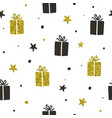 stylish holiday seamless pattern vector image vector image