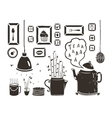 Teapot Lamp Vase Kitchen Still Life Art Frames on vector image vector image