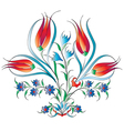 traditional Ottoman design with a pattern of three vector image vector image