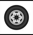 wheel of car vector image vector image