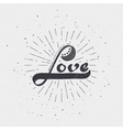 Word love badge lettering of emblem can be used to vector image vector image