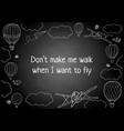 words dont make me walk vector image vector image