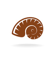 shell silhouette Snail home vector image