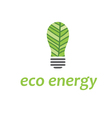 eco bulb with leaf vector image