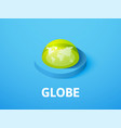 globe isometric icon isolated on color background vector image