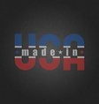 Made in the USA worn poster on the old grey vector image