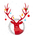 christmas deer background vector image