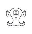 alien creature line icon concept alien creature vector image