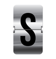 Alphabet silver flipboard letters s vector image