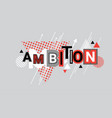 ambition business goal targeting web banner vector image vector image