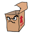 angry freehand drawn cartoon empty box vector image vector image