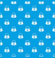 bag pattern seamless blue vector image vector image
