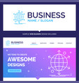 beautiful business concept brand name business vector image vector image