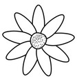 beautiful flower decorative icon vector image vector image