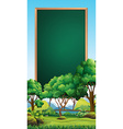Board template with park in background vector image vector image
