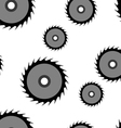 Circular saw blade seamless wallpaper vector image vector image