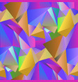colorful crystal seamless pattern vector image vector image