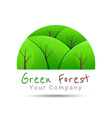 Concept graphic white abstract green tree forest vector image vector image