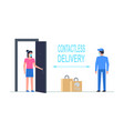 contactless delivery vector image vector image