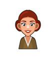 cute beautiful redhead girl avatar young woman vector image