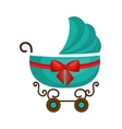cute cart baby isolated icon vector image vector image