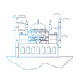 degraded line taj mahal in india and nice clouds vector image vector image