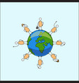 diversity earth vector image vector image