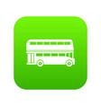 double decker bus icon digital green vector image vector image