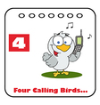 Four calling birds cartoon vector image vector image