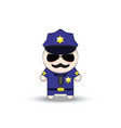 funny cop with sunglasses and mustache police vector image vector image