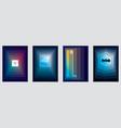 futuristic minimal brochures graphic design vector image