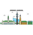 germany hamburg city skyline architecture vector image vector image