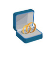 gold wedding rings with love forever engravings vector image vector image