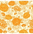 Golden art flowers seamless pattern background vector image vector image