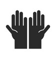hands support charity symbol community and vector image vector image
