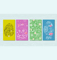happy easter banner greeting card with hand drawn vector image vector image