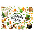 happy saint patricks day traditional collection vector image vector image