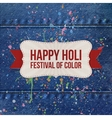 Holi indian Festival of Color Background vector image