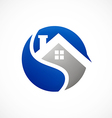 home realty icon abstract logo vector image