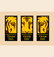 international tiger day vector image vector image