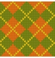 Knitted diamond shape seamless pattern in green vector image
