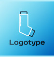 line inhaler icon isolated on blue background