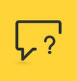 linear chat bubble with question mark sign icon vector image vector image