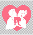 man and woman kissing on transparent background vector image vector image