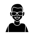 man with sunglasses cartoon vector image vector image