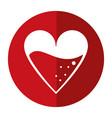 medical heart blood design shadow vector image