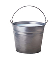 Metallic bucket vector image