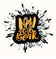 New year gold glitter concept hand lettering vector image vector image